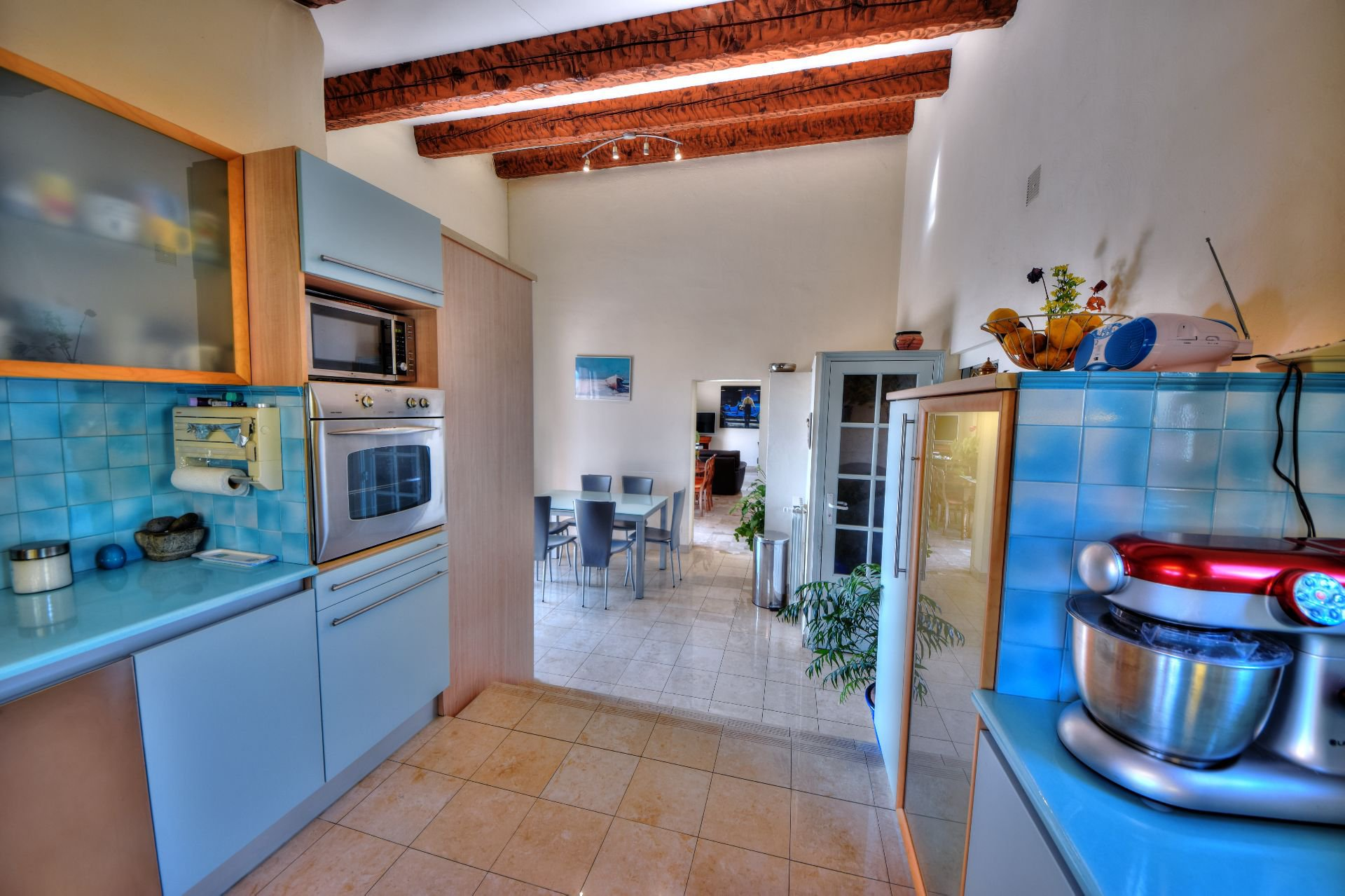 Kitchen of the villa 328 m² panoramic view, Draguignan, Var, Provence
