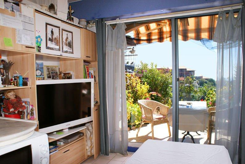 Bright studio with little garden