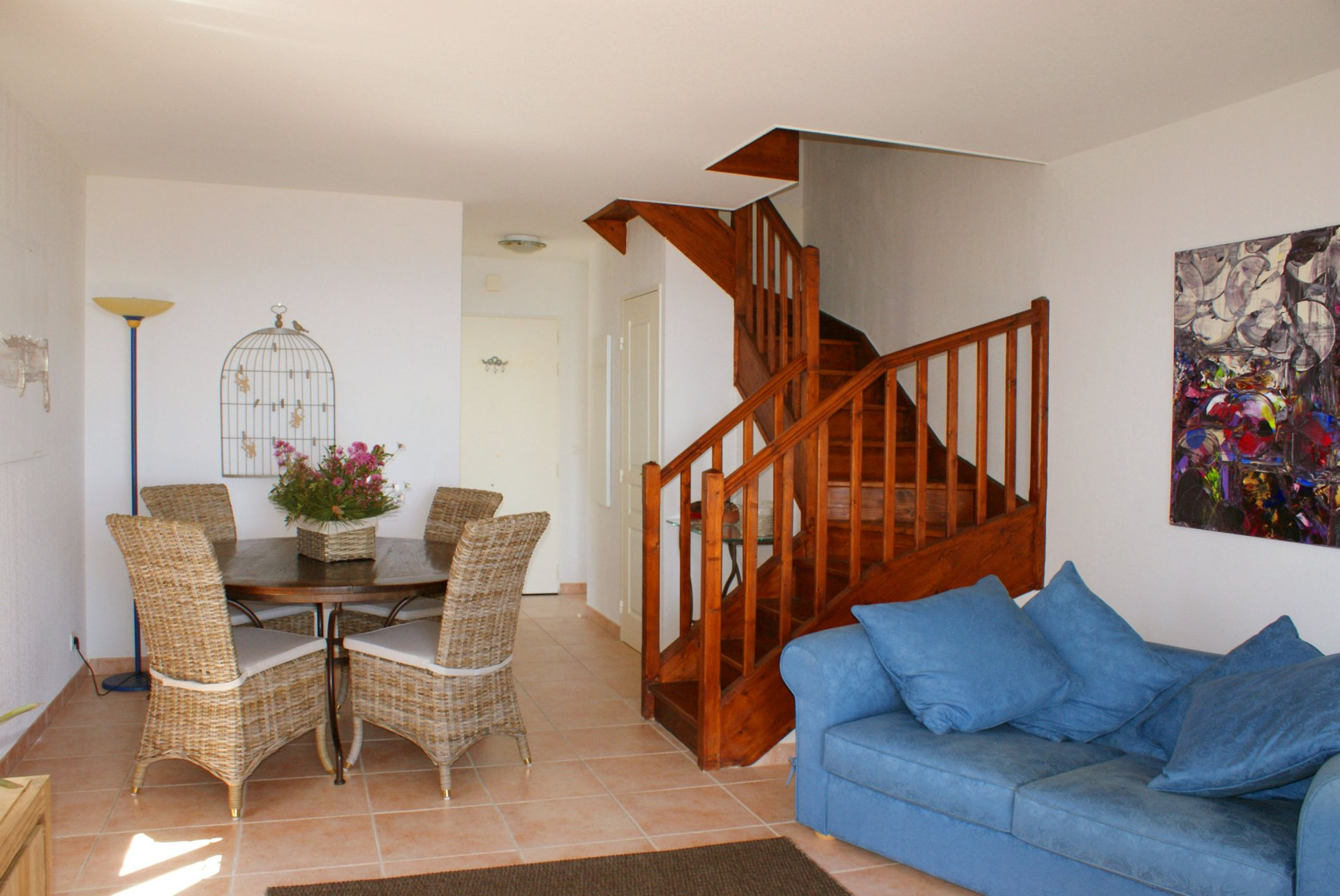 Semi detached house: living room, 2  bedrooms (4 sleeps) american kitchen garden terrace, sea view * ROVI 6 *