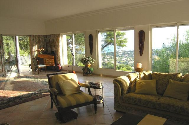At the hills of Golfe Juan with sea view