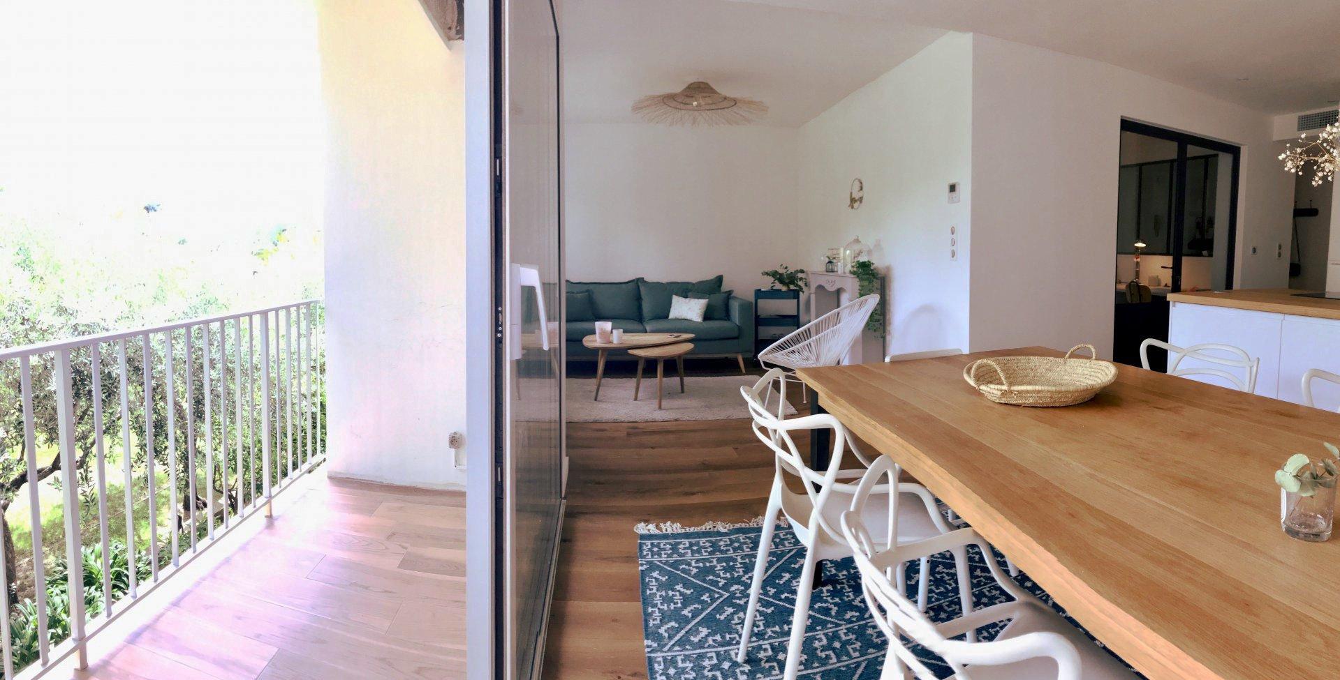 CANNES MONTFLEURY 4 pieces de 88 m2 neuf avec balcon à 600 M de la rue d'Antibes