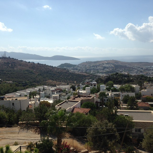 Superb sea view over the bay of Bodrum the harbor and hills