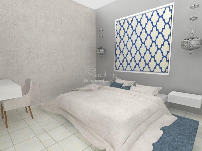 Appartement S+3 superbe vue mer au 4e étage d'une luxueuse résidence en bordure de mer. Financement possible