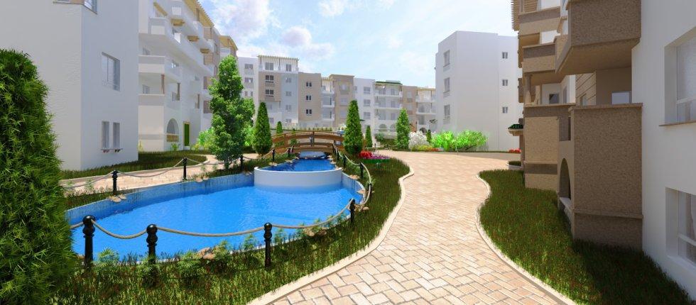 Appartement 2 chambres en vente 3 eme étage à El Menzah 9