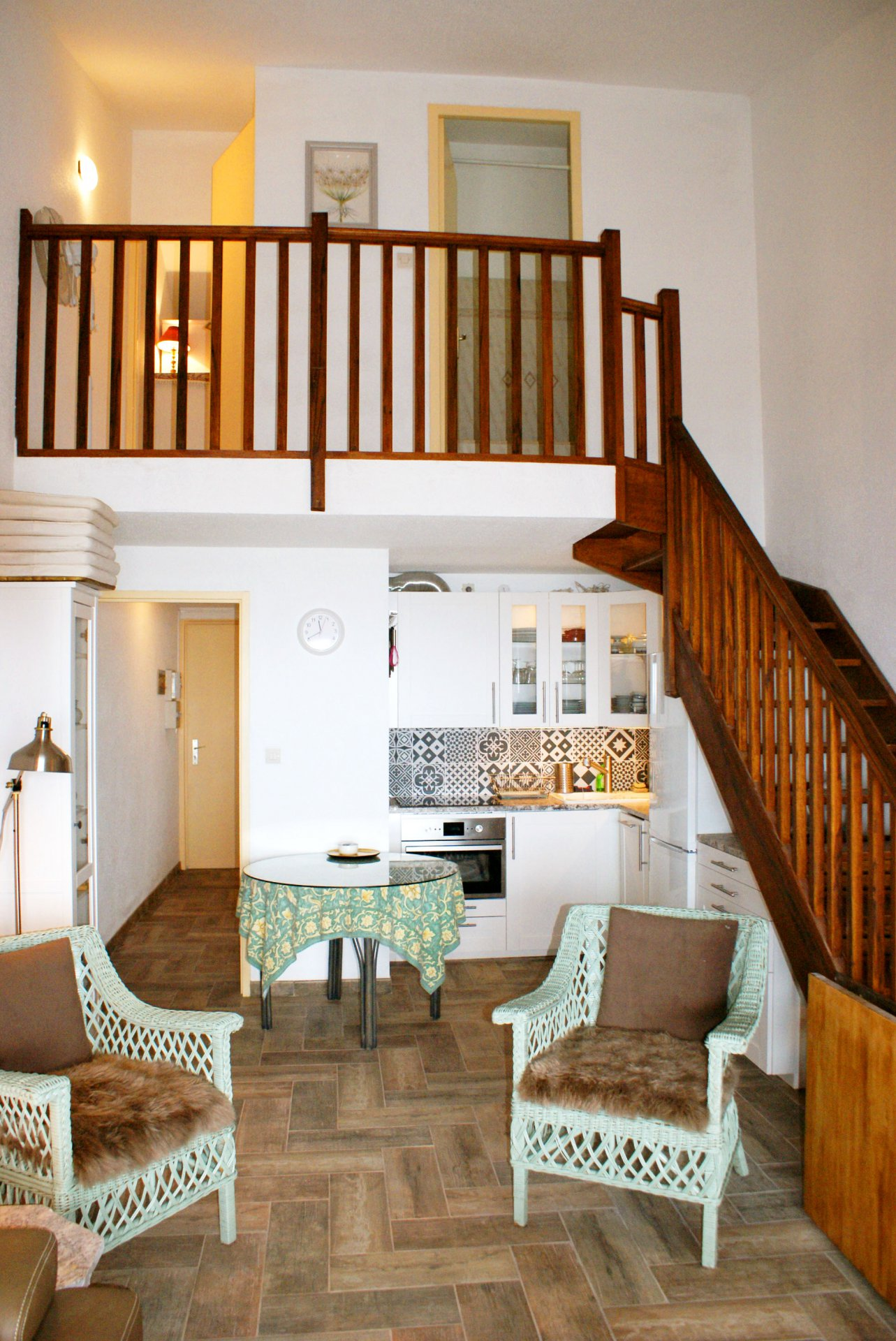 iving room, 2  bed rooms terrasse with sea view open plan kitchen bath room/wc only a few steps from the beach  * BM C11 *