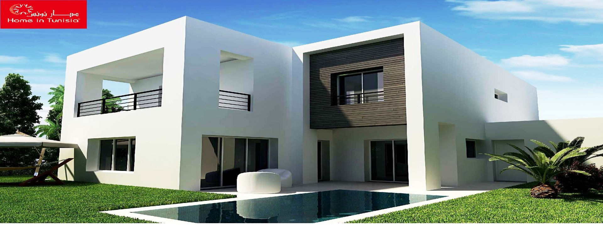Villa isolated new golf of 3417.14 m2 with 4 rooms terrace garden swimming pool garage