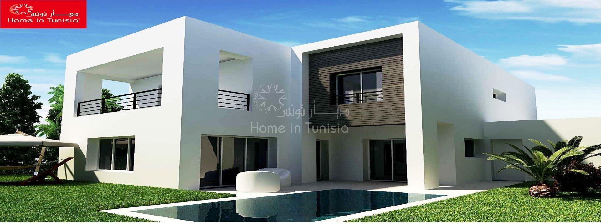 Villa gammarth tunisia 338 380 for Architecture petite maison moderne
