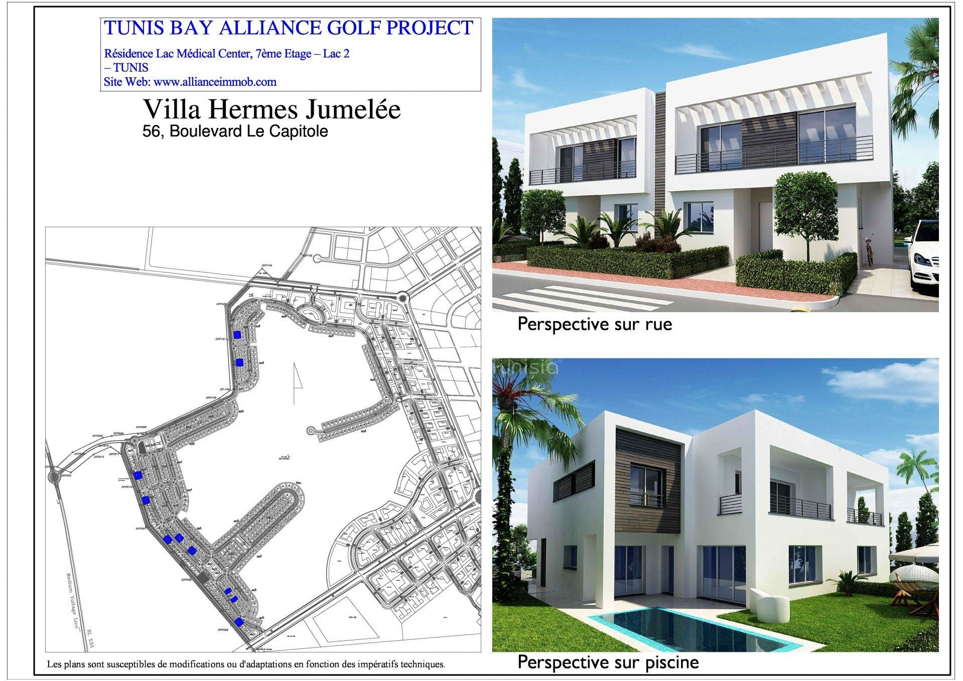villa isolated new golf of 27777 m2 with 4 rooms terrace garden swimming pool garage - Plan Pool House Piscine