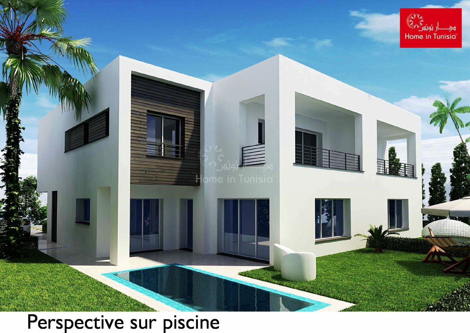 Villa isolated new golf of 277.77 m2 with 4 rooms terrace garden swimming pool garage