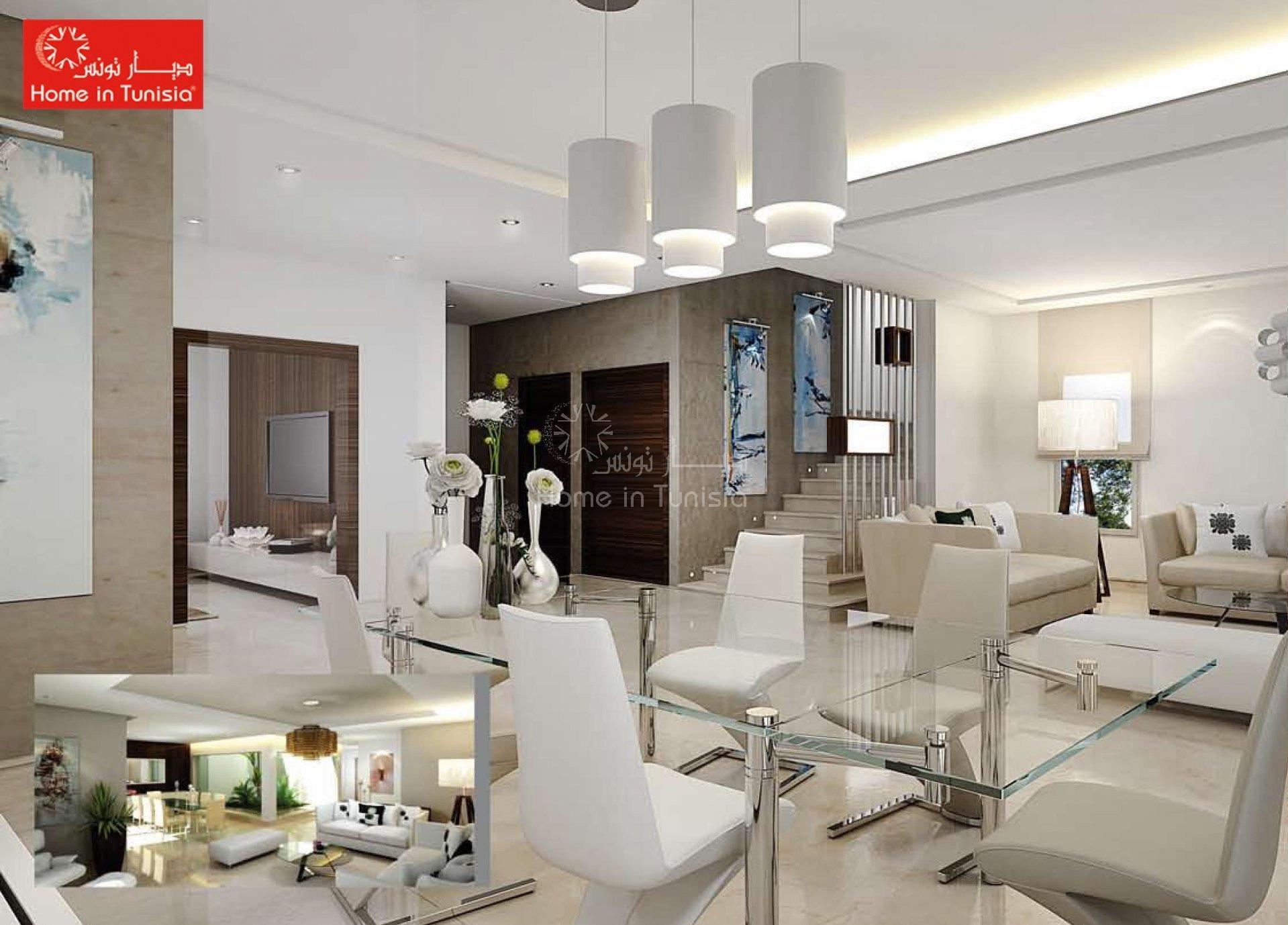 Villa golf jumelée neuve de 327.35 m2 avec 4 chambres terrasse jardin piscine