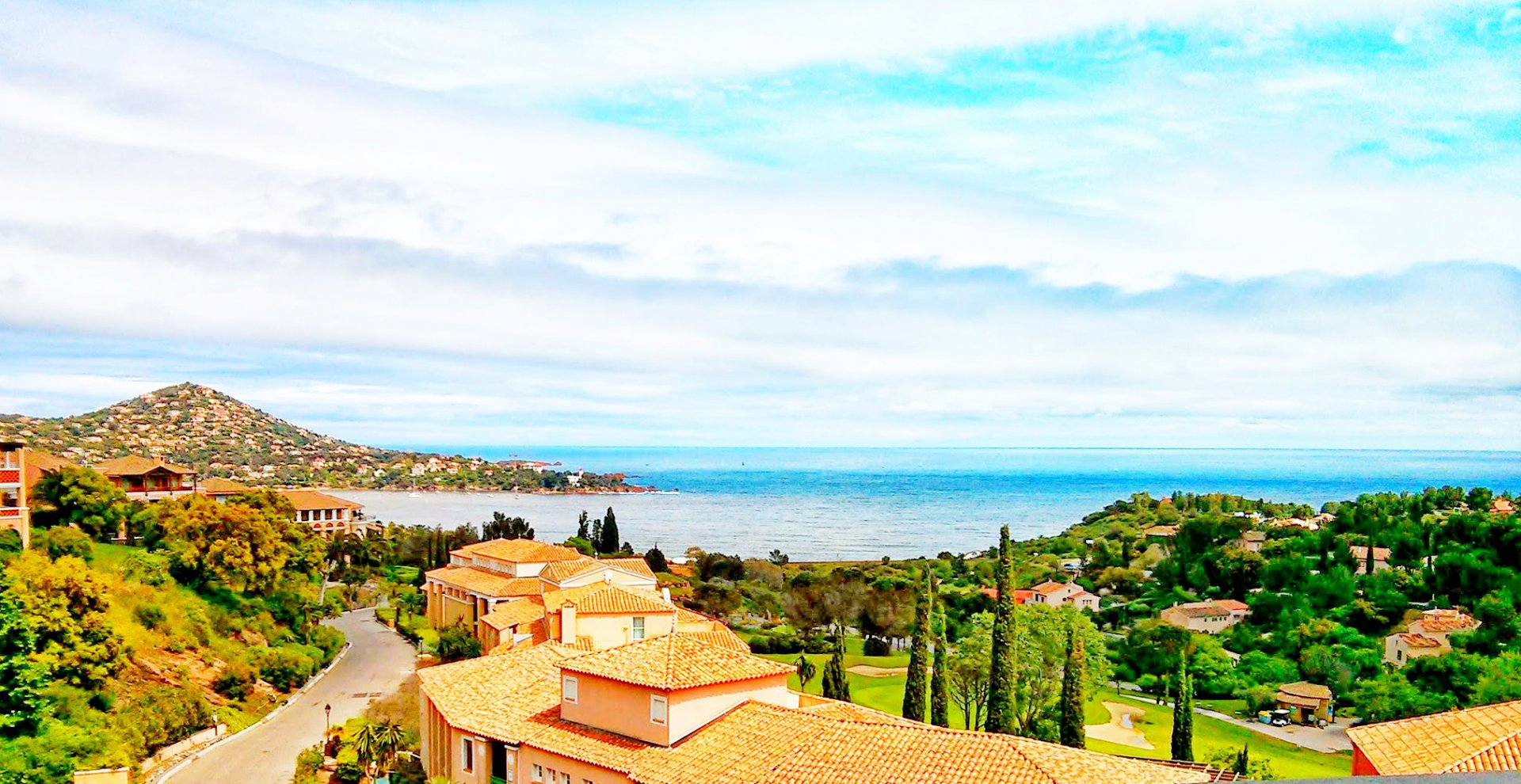 The view from Cap Esterel's apartment