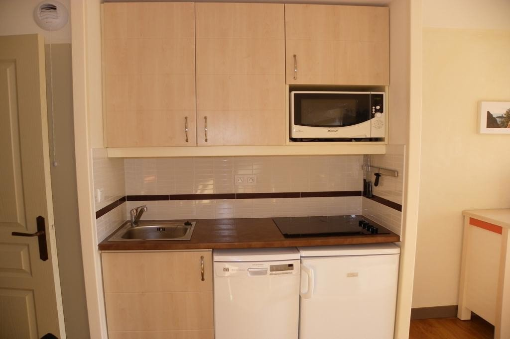 The kitchen of the apartment in Cap Esterel