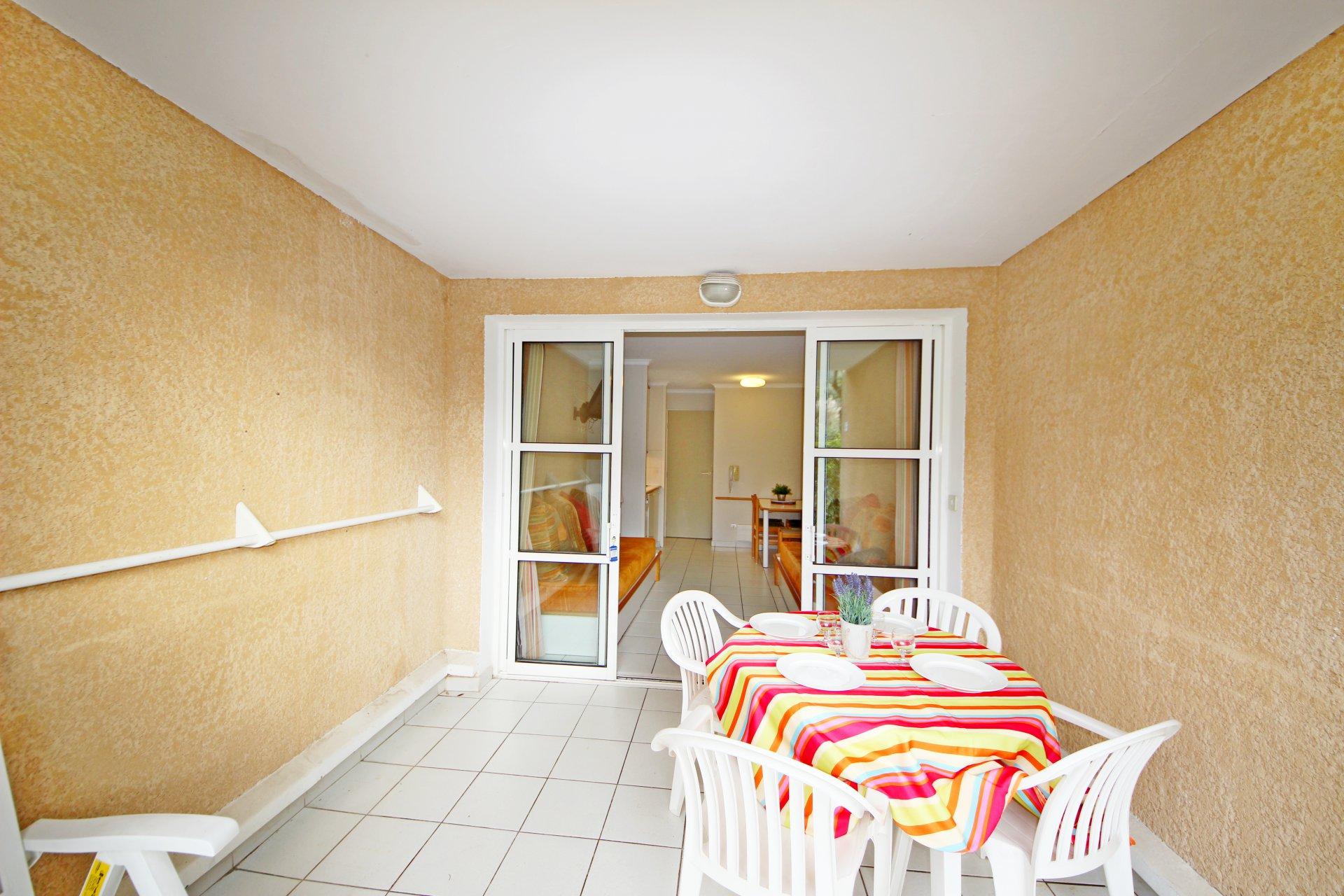 The terrace of Cap Esterel's apartment