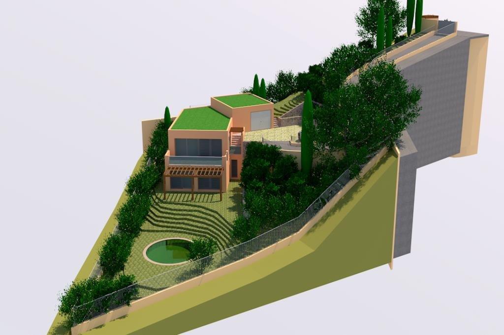 Landtopography  En pente forte, View ESTERELPrincipal viabilities[VIABILITES]licencebuilding licence ...