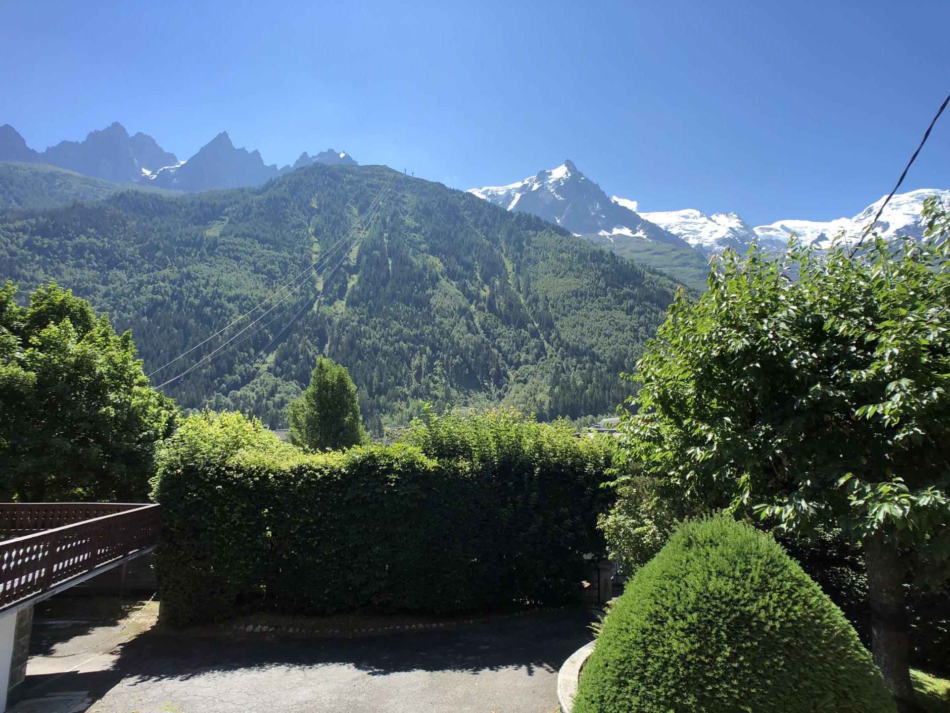 Giardino con splendida vista sulla catena del Monte Bianco
