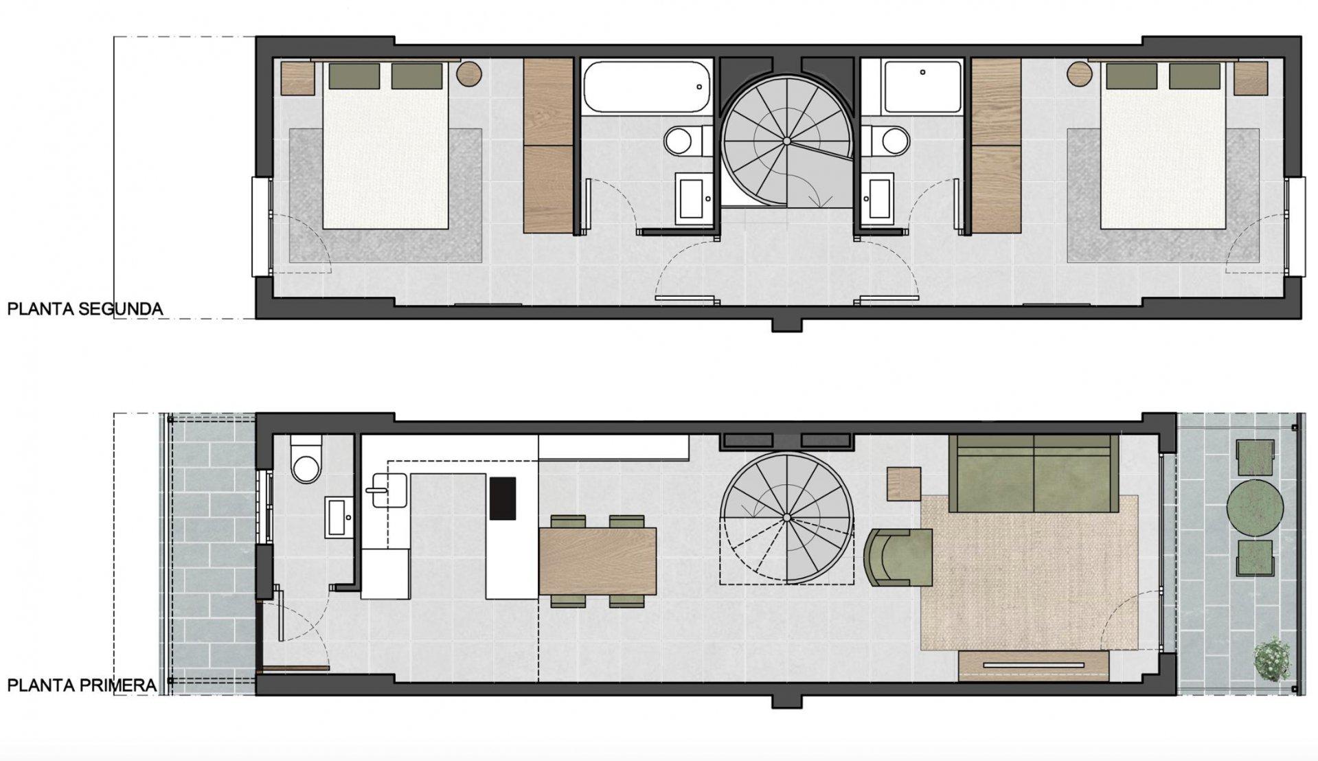Bonitos y nuevos apartamentos en pequeño edificio en Palma