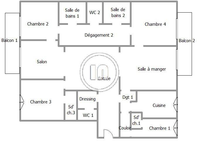 Vendu - Appartement à rénover avec vue dégagée sur jardin et 1 parking