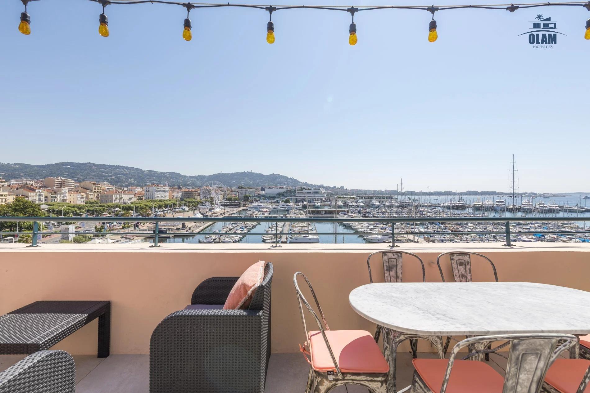 Splendide 3 pièce duplex étage élevé vue mer terrasse