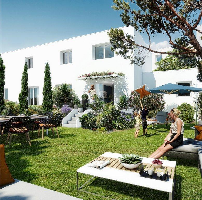 Nybyggnadsprojekt 300 m från stranden i Valras Plage med radhus och lägenheter