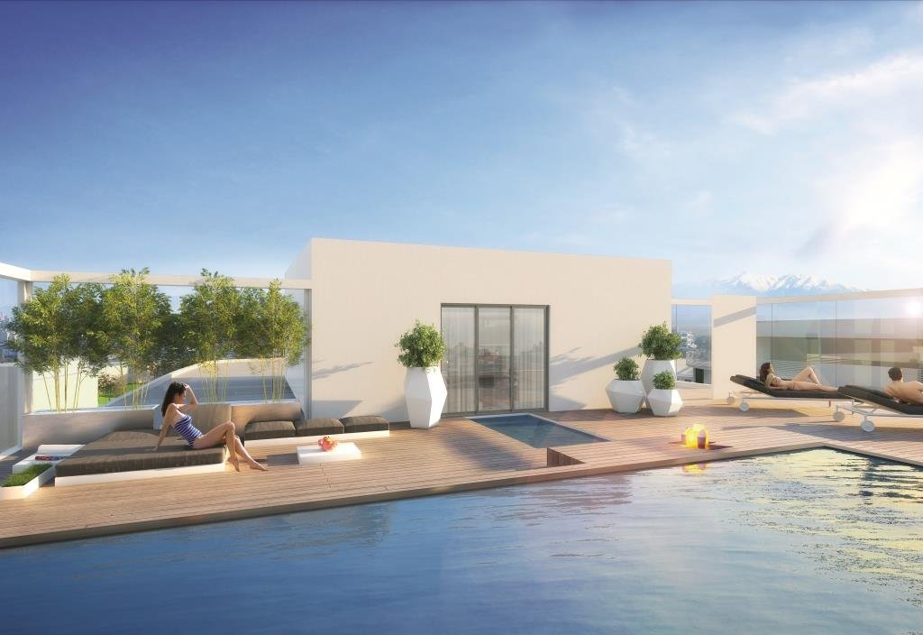 CANET sector PORT ALIZES T3 in building of standing terrace of 25m2, with swimming pool on the roof