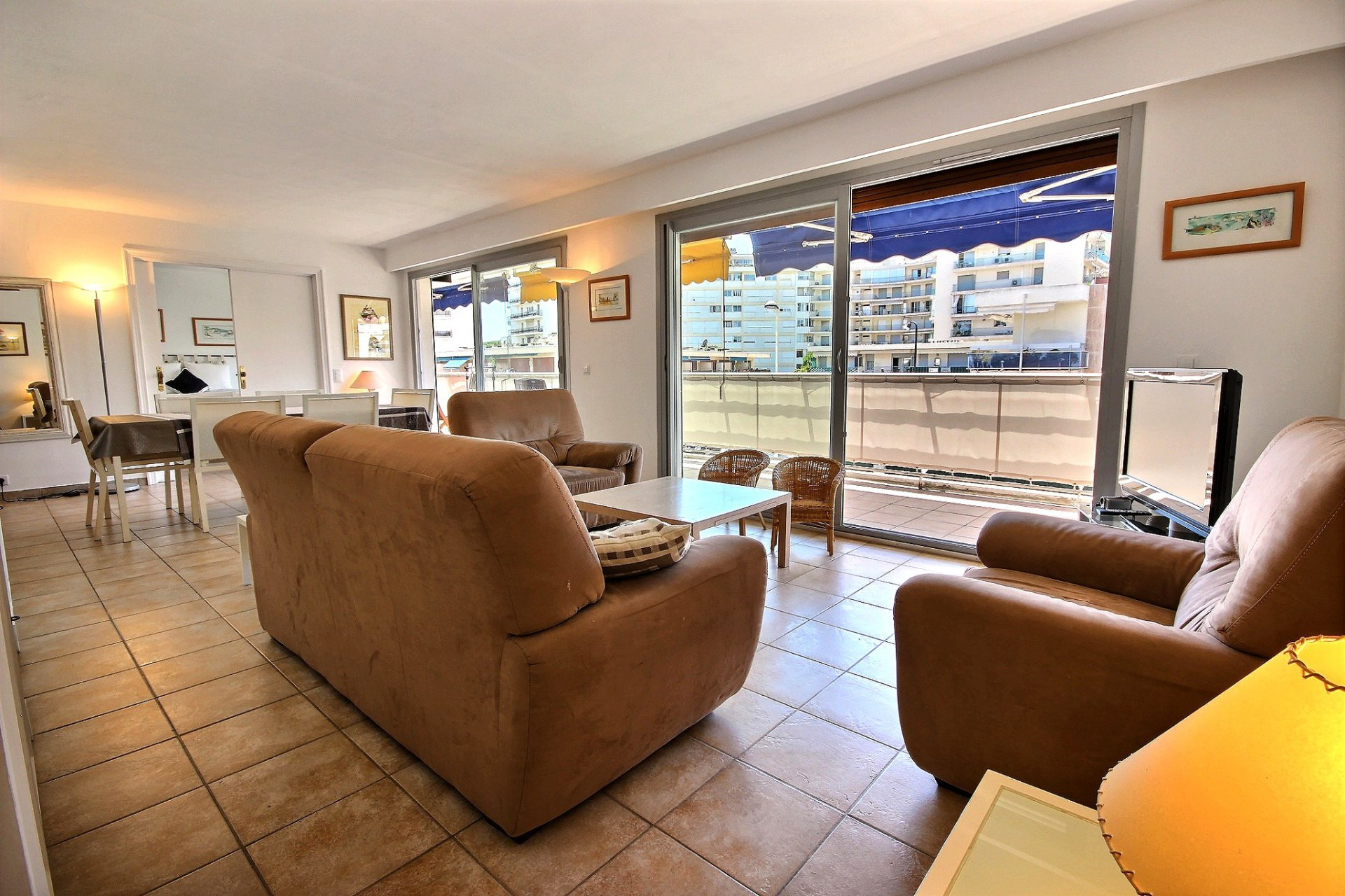 appartement à vendre Cannes Palm Beach terrasse salon