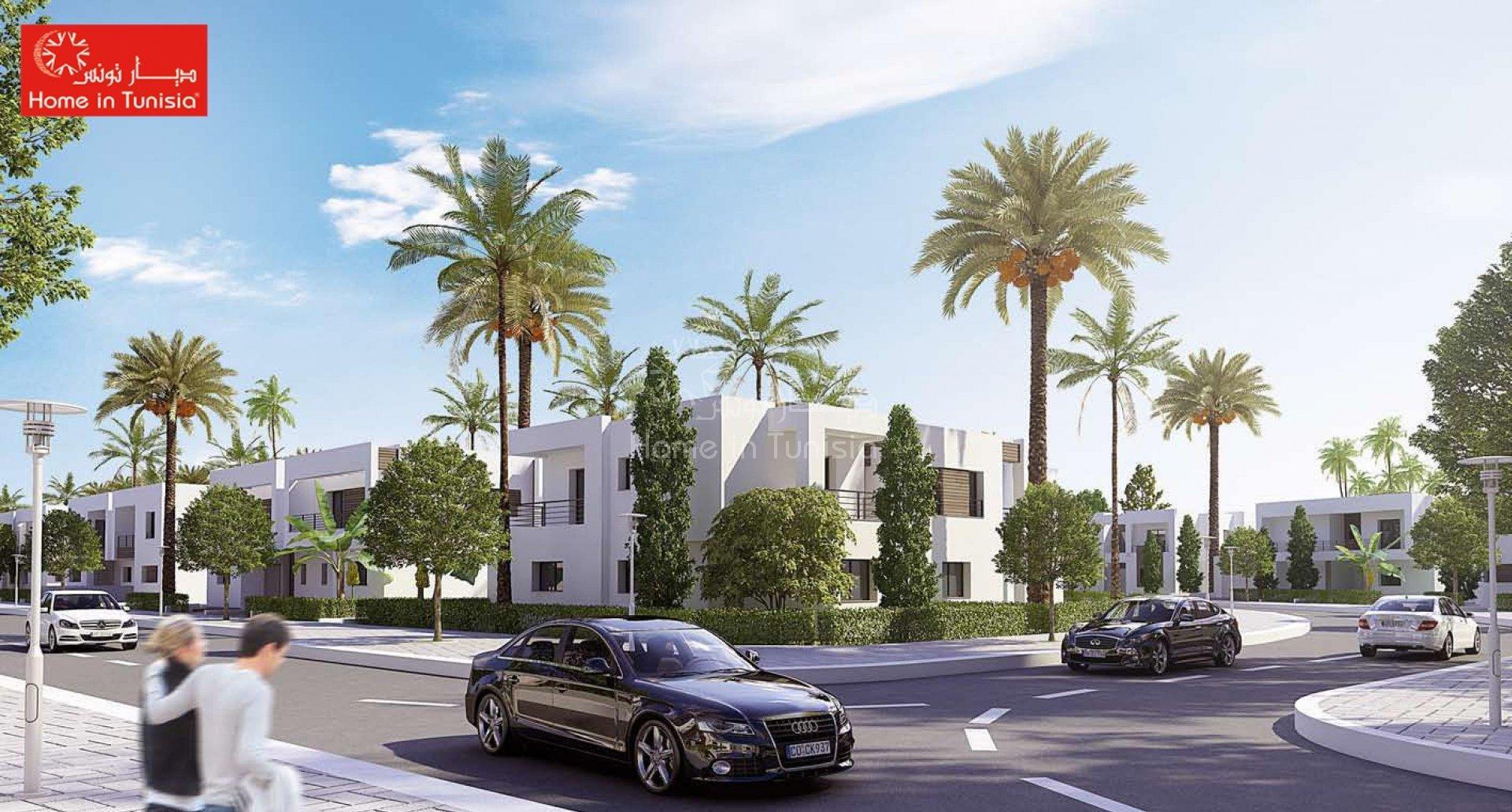 Investir dans villa golf Aphrodite isolée a Tunis Bay résidence d'affaires de tourisme et de services