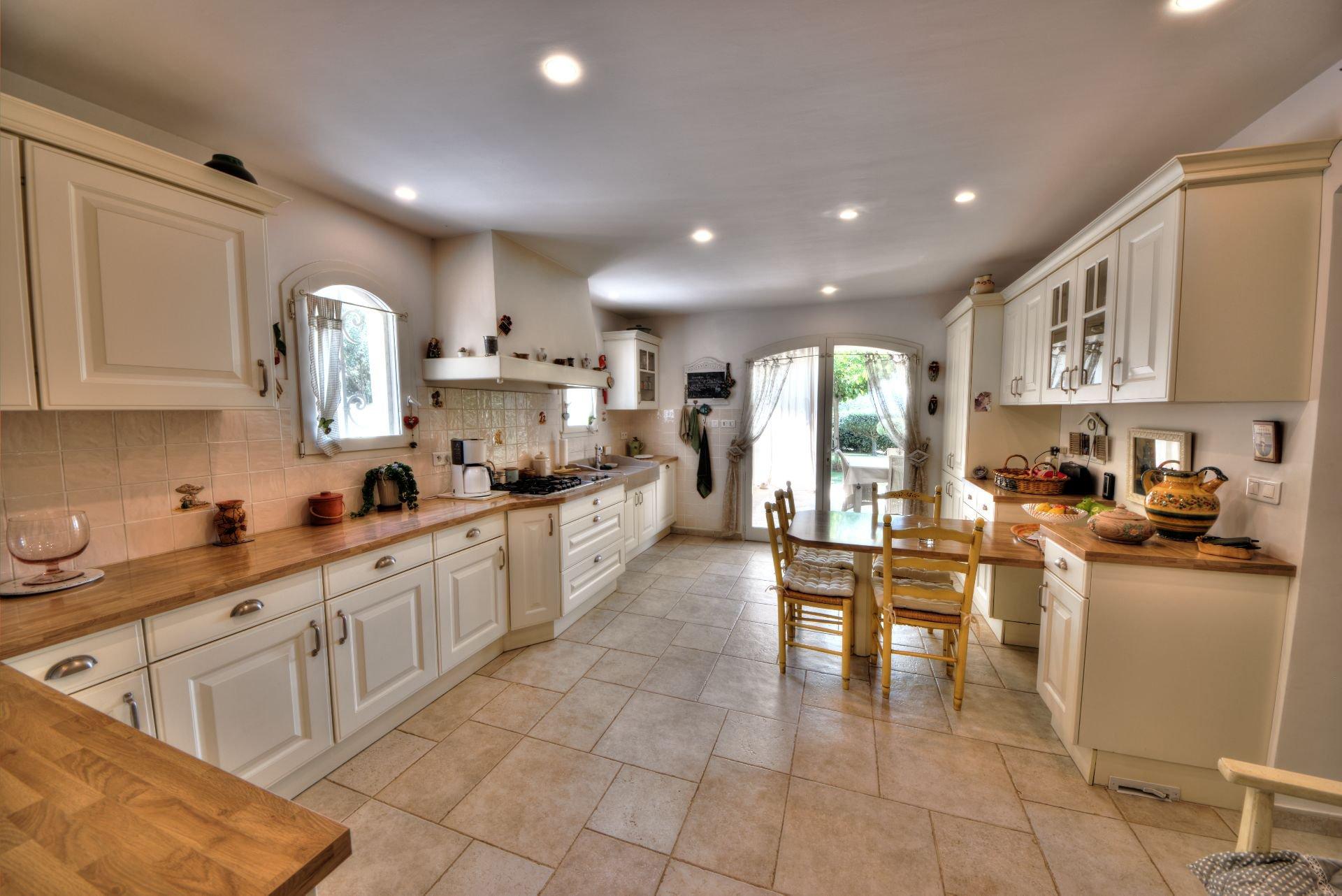 Kitchen, natural light, tile