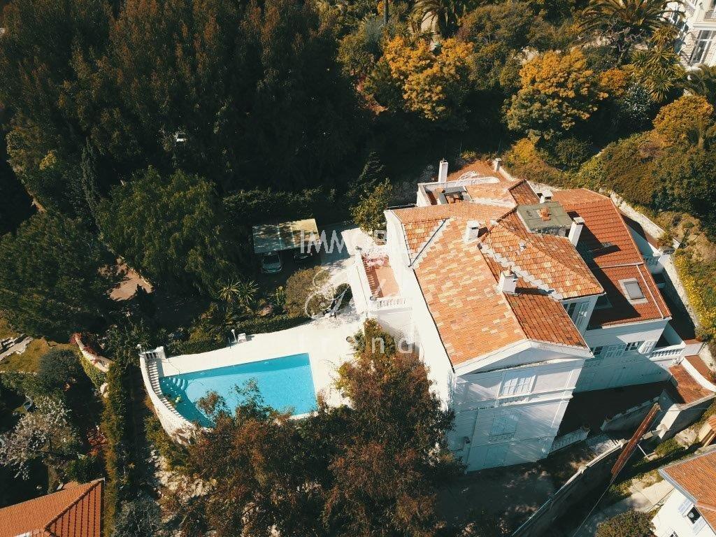 Mentone Immobiliare - In vendita, villa Belle Epoque con giardino, piscina e vista mare panoramica