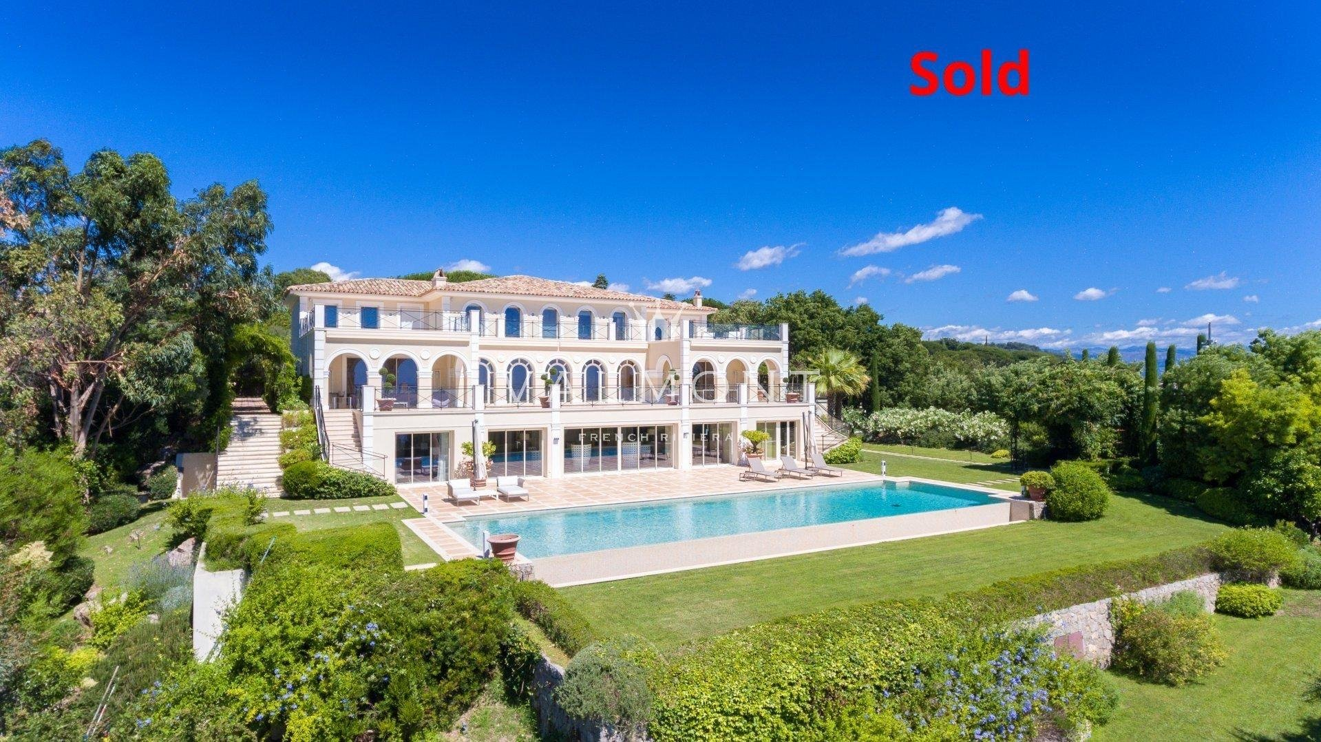 EXCEPTIONAL ESTATE ON THE HEIGHTS OF CANNES WITH PANORAMIC SEA VIEWS