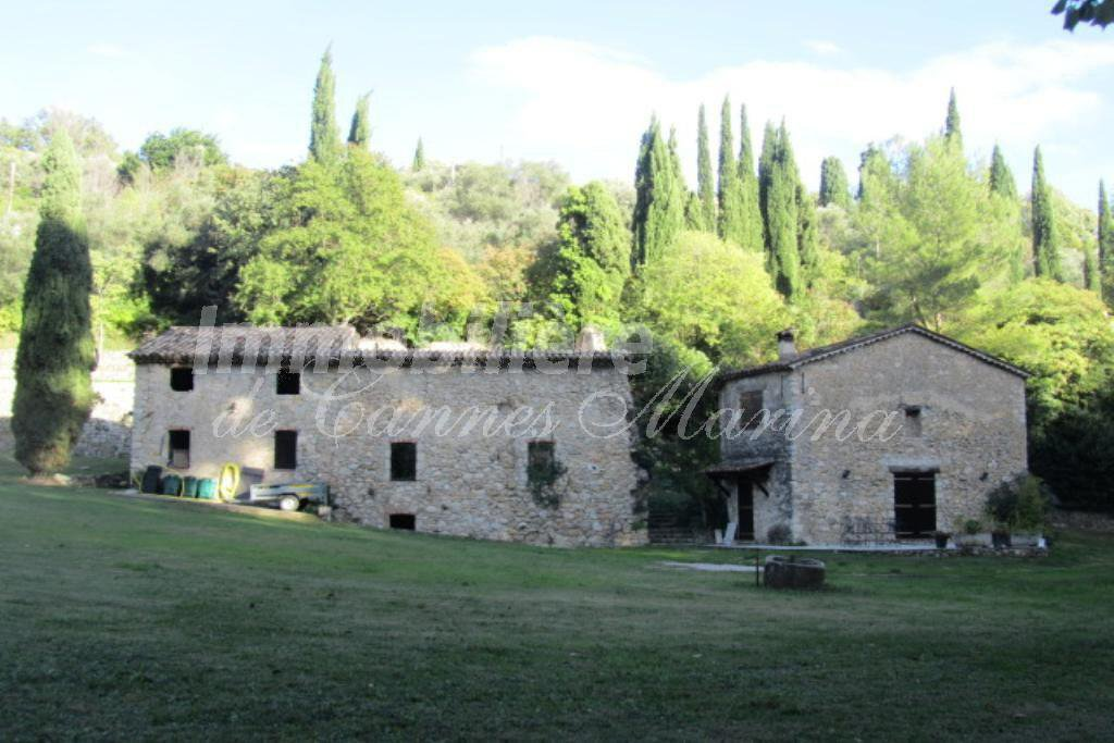 Left ancient Olive Oil mill/Right Guest House