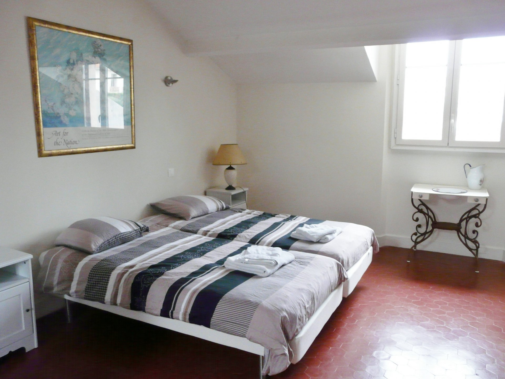 Bedroom 2, natural light, tiles