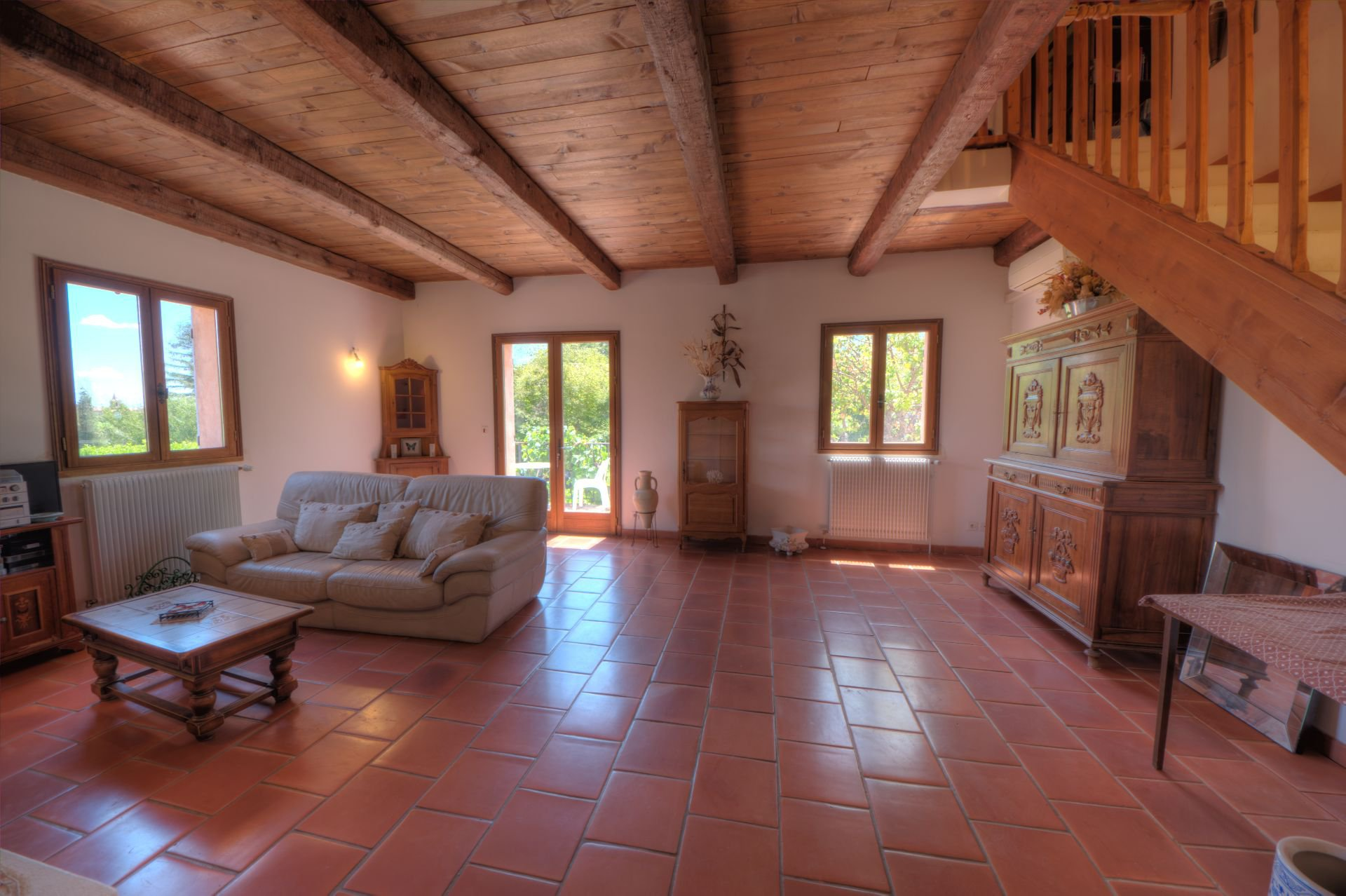 Living room of Villa Régusse, Var, Verdon