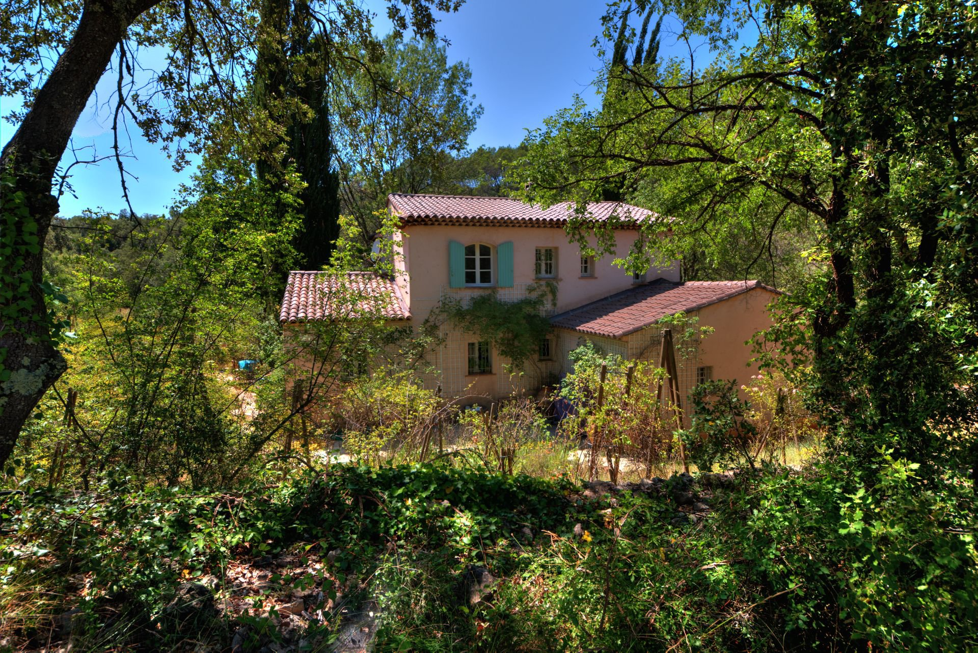 View of the villa in the heart of the nature Thoronet