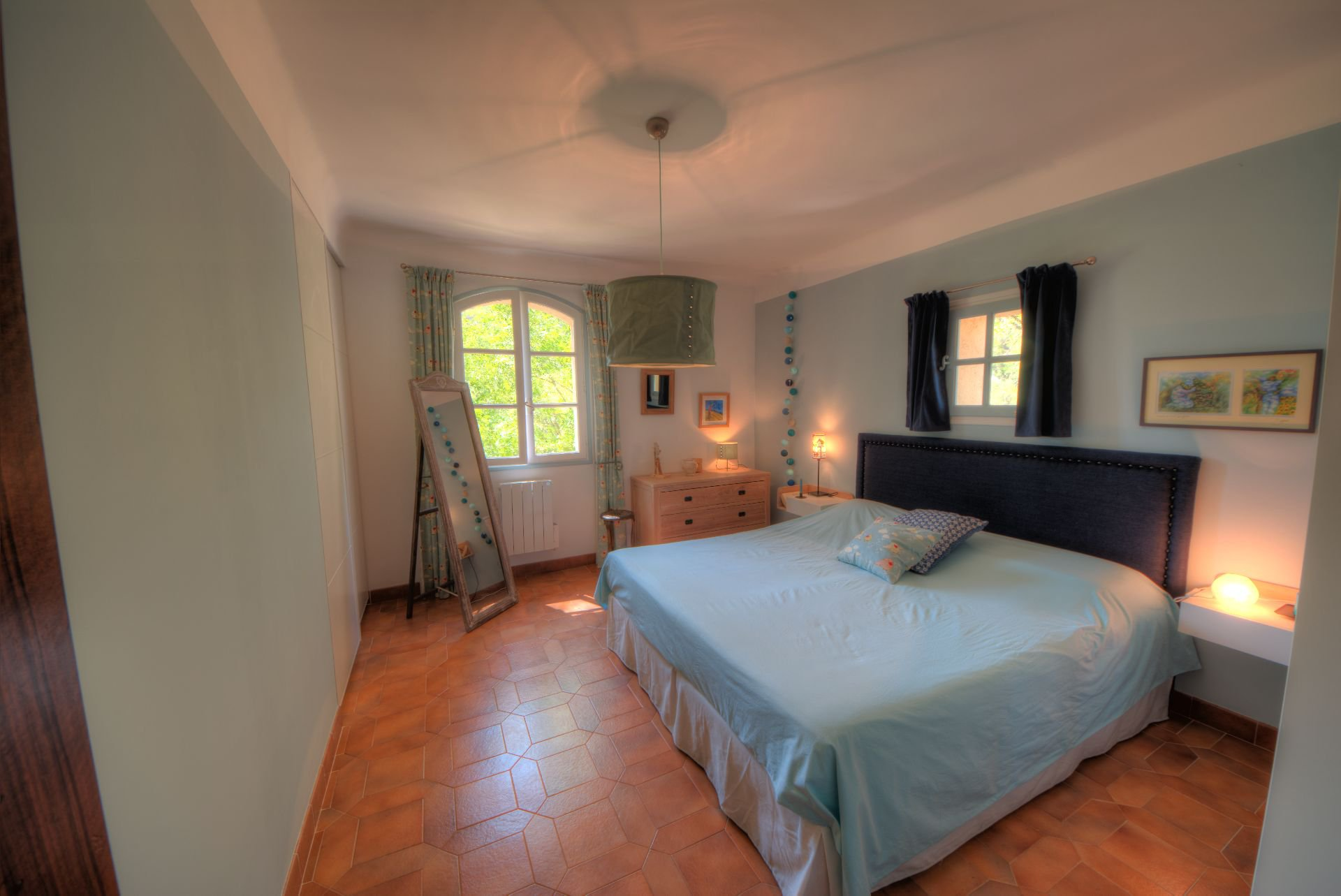 Bedroom 1 of the villa in the heart of the Thoronet