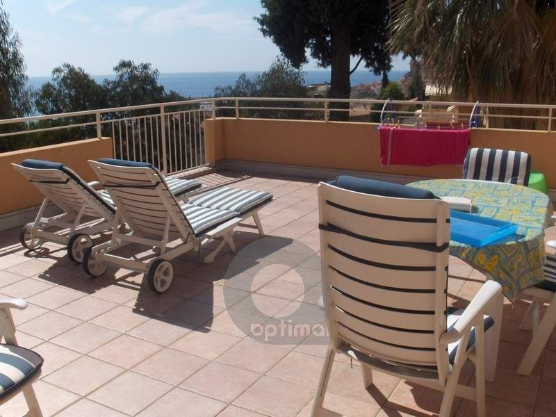 3 rooms with big terrace and garage in residence with swimming pool