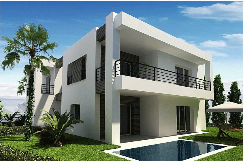 Villa new isolated golf of 375 m2 with 4 rooms terrace garden swimming pool