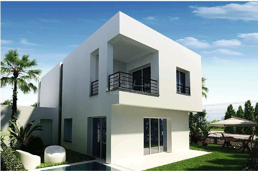 Tunis Bay résidentiel golf villa Oceanos isolée 3 chambres terrasse jardin piscine privee