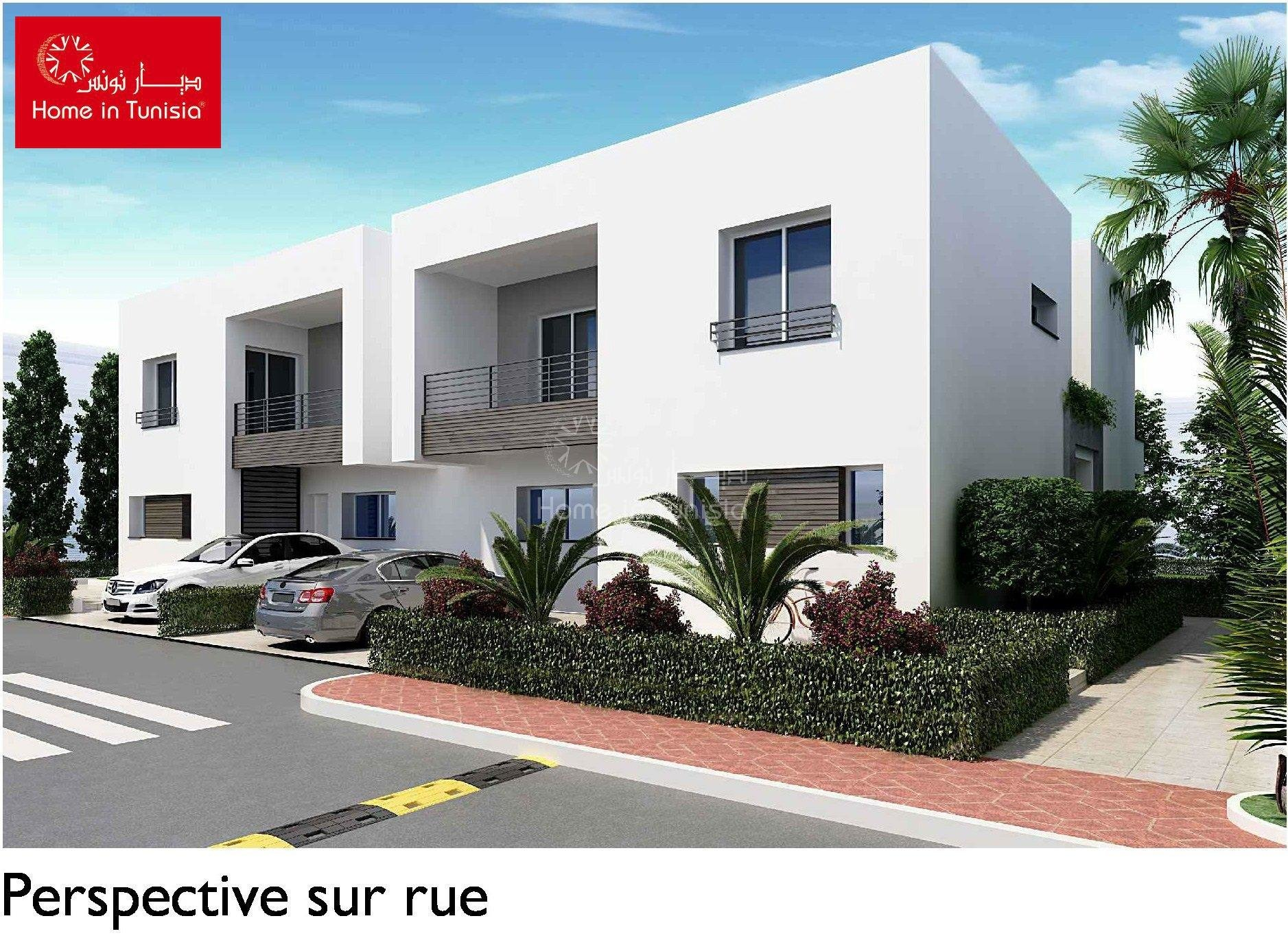 Tunis Bay résidentiel golf villa Oceanos jumelée 3 chambres terrasse jardin piscine privee