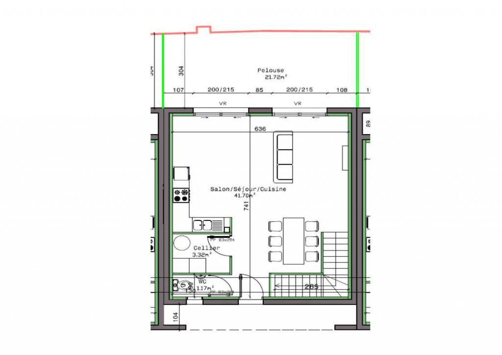 Ce bien immobilier construit en 2017 vous offre de plain pied une pièce de vie principale de 40 m² donnant sur une terrasse bien exposée. L'étage se compose de 3 chambres avec placards intégrés et une grande salle de bains de presque 8 m² avec baignoire ET douche. Très bonnes prestations : normes BBC, chauffage au sol par pompe à chaleur, terrasse carrelée, terrain clôturé... vendu entièrement terminé. Frais de notaires réduits. Bien immobilier non soumis au régime de la copropriété.