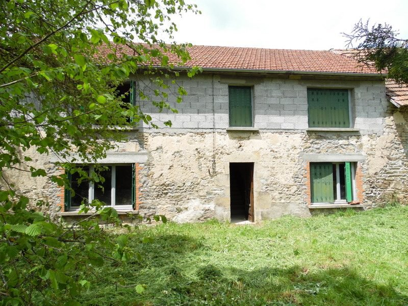 For sale in the Puy de Dôme a longère to renovate and garden