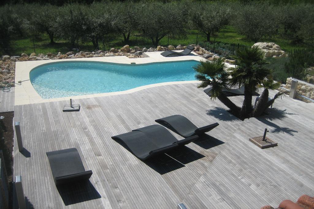 Chateauneuf de grasse, 2 pièces meublé dans villa avec piscine et sauna