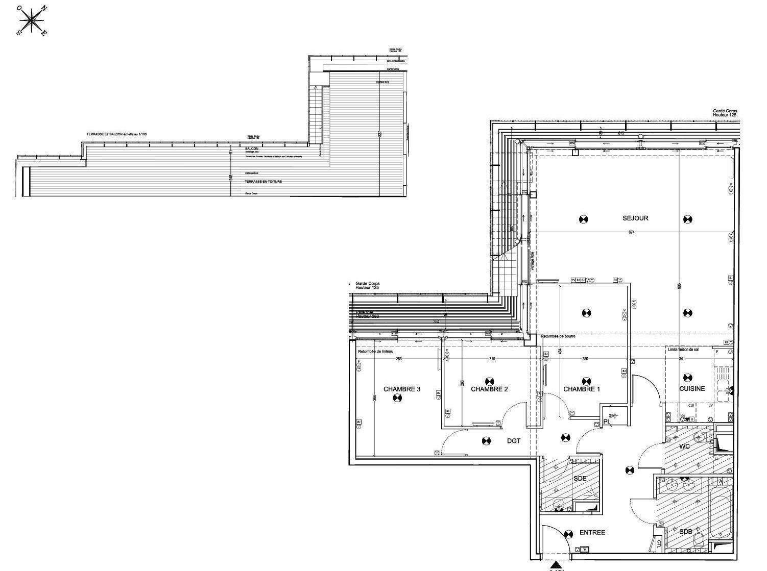 VAVIN RASPAIL Paris 14e, appartement avec terrasse au dernier étage plein Sud
