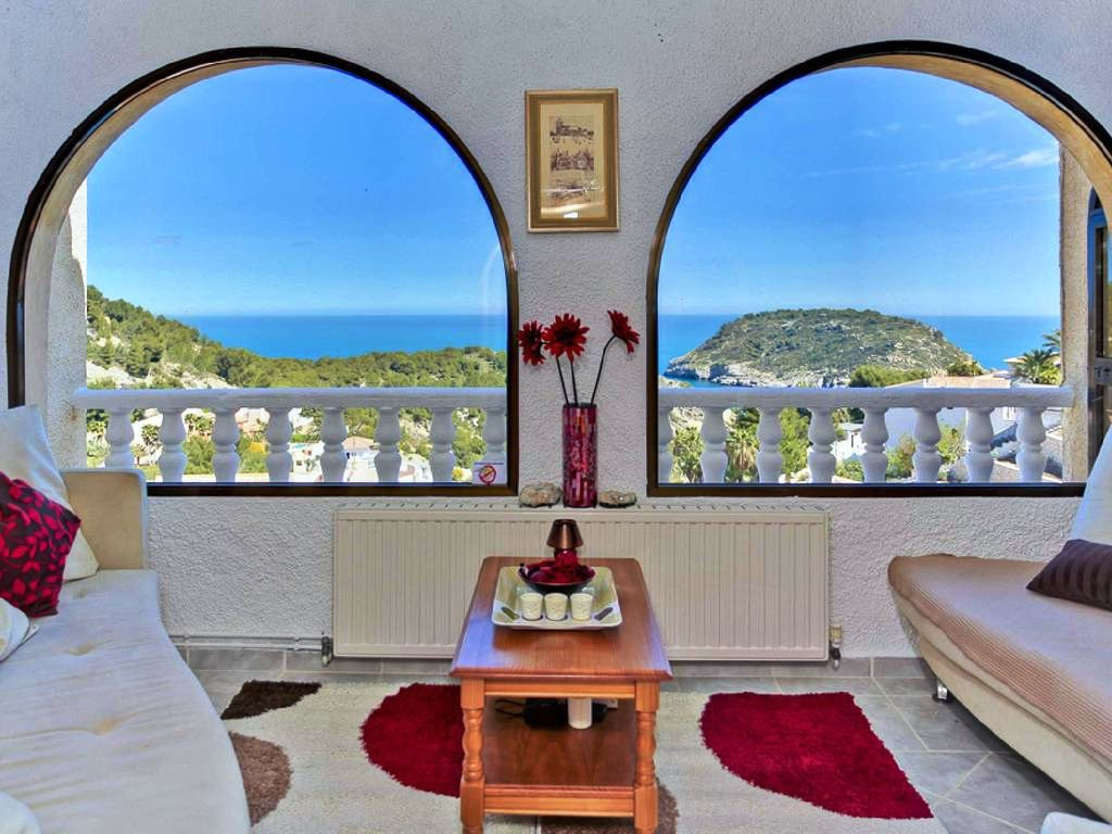 Spacious villa with spectacular sea and island views