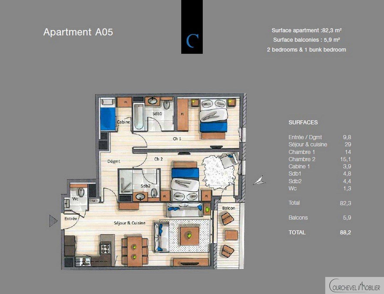 Nieuwbouw Appartement - Courchevel Moriond 1650