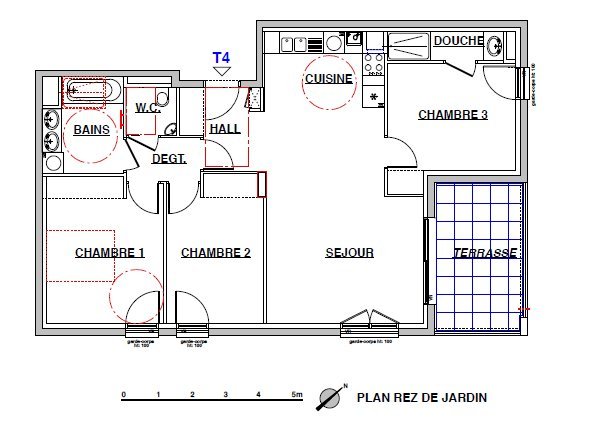 Achat Appartement, Surface de 82.5 m², 4 pièces, Lyon 9ème (69009)