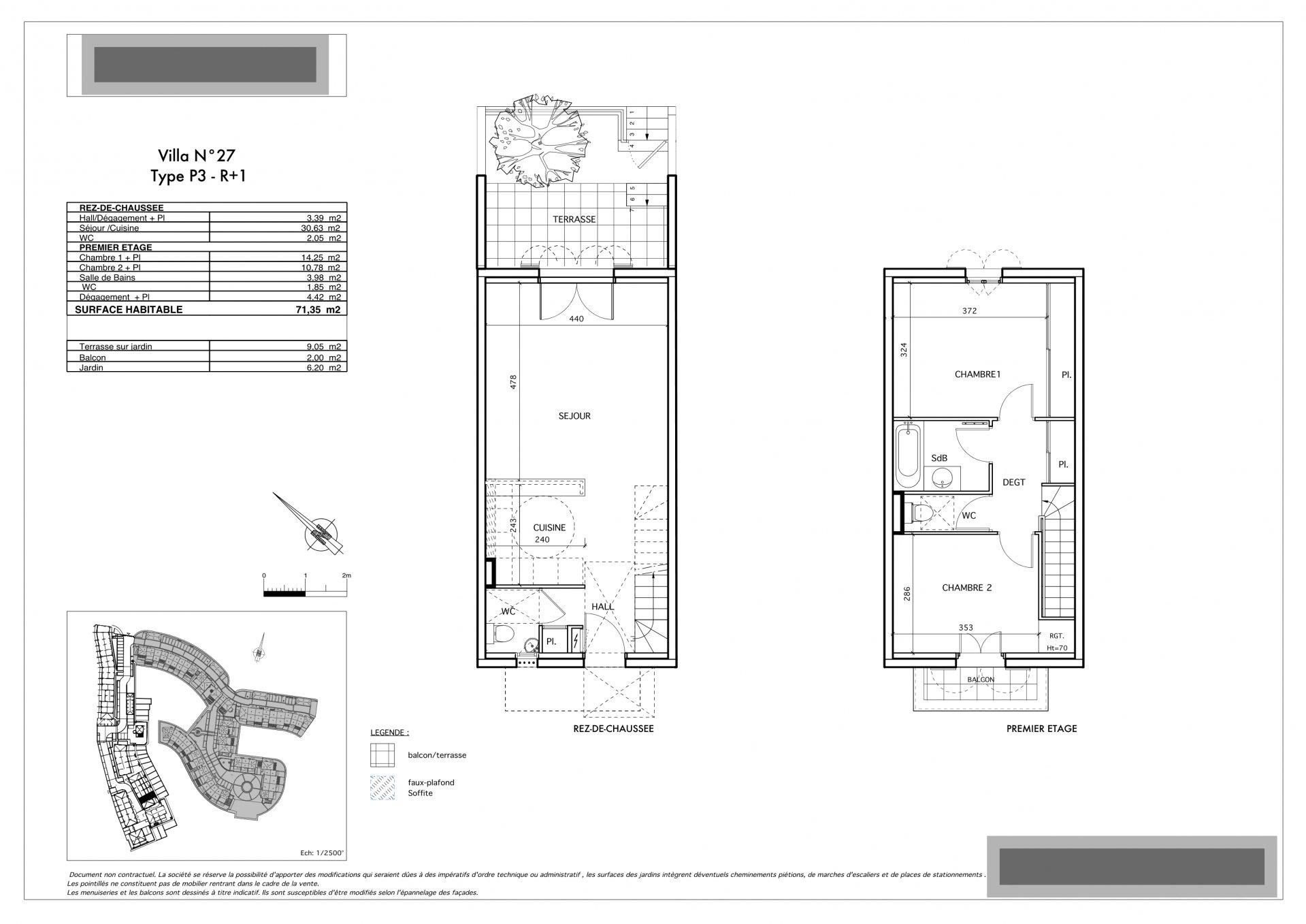 Trerumshus i två plan med terrass och garage
