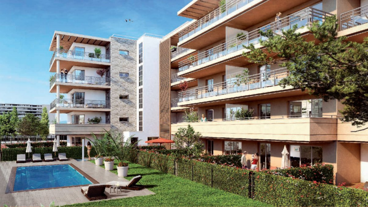 Antibes, New programme, 3 rooms apartment, 65m2, balcony 24m2, parking,  376 000€