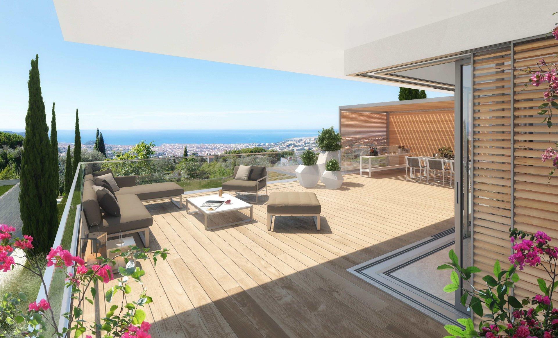 3-bedroom apartment with terrace and garden - Domaine de Gairaut
