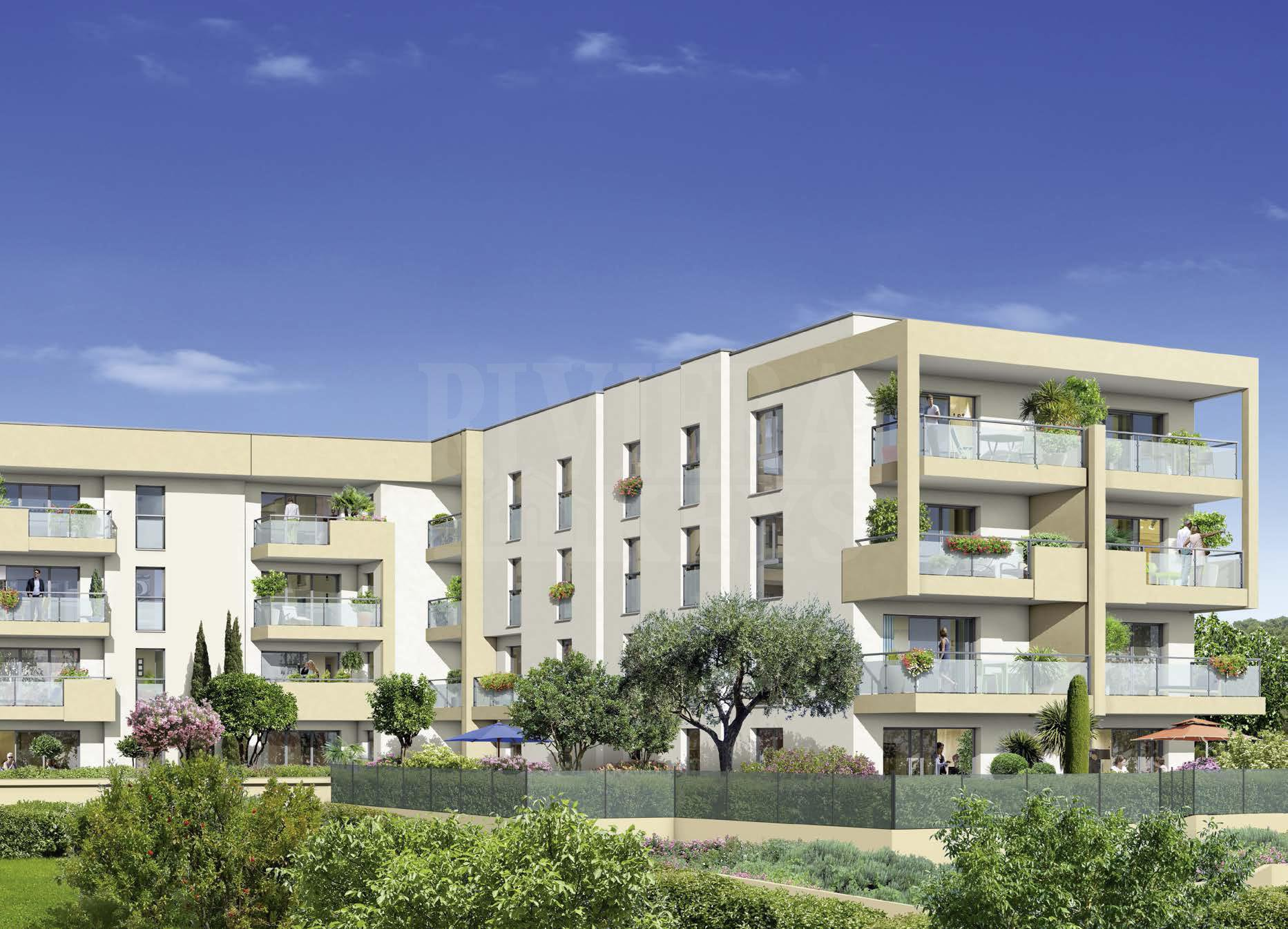 New apartments with sea view in a quiet area near Port Vauban in Antibes