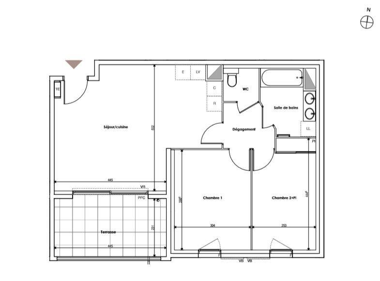 T3 61 m2 Terrasse + Box (D14)
